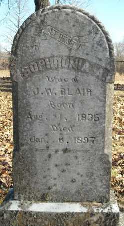 BLAIR, SOPHRONIA A. - Faulkner County, Arkansas | SOPHRONIA A. BLAIR - Arkansas Gravestone Photos