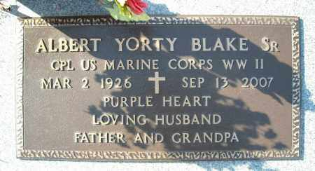 BLAKE, SR. (VETERAN WWII), ALBERT YORTY - Faulkner County, Arkansas | ALBERT YORTY BLAKE, SR. (VETERAN WWII) - Arkansas Gravestone Photos