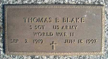 BLAKE (VETERAN WWII), THOMAS E - Faulkner County, Arkansas | THOMAS E BLAKE (VETERAN WWII) - Arkansas Gravestone Photos