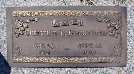 BLANKENSHIP, CHRISTINE L. - Faulkner County, Arkansas | CHRISTINE L. BLANKENSHIP - Arkansas Gravestone Photos