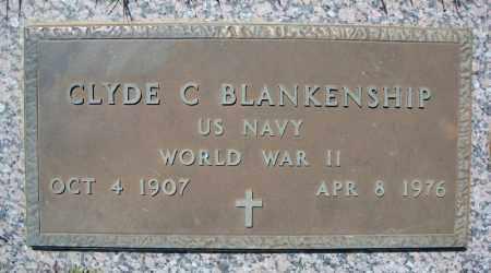 BLANKENSHIP (VETERAN WWII), CLYDE C - Faulkner County, Arkansas | CLYDE C BLANKENSHIP (VETERAN WWII) - Arkansas Gravestone Photos