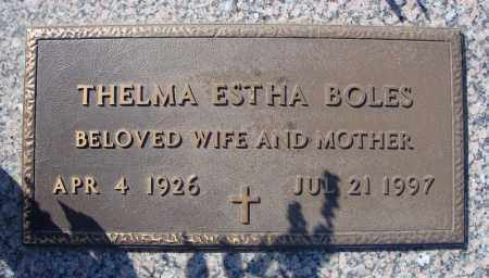 BOLES, THELMA ESTHA - Faulkner County, Arkansas | THELMA ESTHA BOLES - Arkansas Gravestone Photos