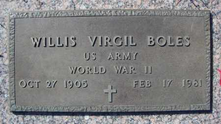 BOLES (VETERAN WWII), WILLIS VIRGIL - Faulkner County, Arkansas | WILLIS VIRGIL BOLES (VETERAN WWII) - Arkansas Gravestone Photos