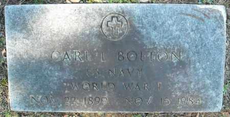 BOLTON  (VETERAN  WWI), CARL L - Faulkner County, Arkansas | CARL L BOLTON  (VETERAN  WWI) - Arkansas Gravestone Photos