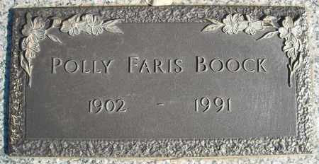 BOOCK, POLLY FARIS - Faulkner County, Arkansas | POLLY FARIS BOOCK - Arkansas Gravestone Photos