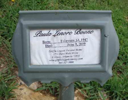 LENORE BOONE, PAULA - Faulkner County, Arkansas | PAULA LENORE BOONE - Arkansas Gravestone Photos