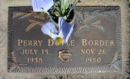 BORDER, PERRY DOYLE - Faulkner County, Arkansas | PERRY DOYLE BORDER - Arkansas Gravestone Photos