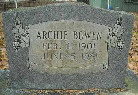 BOWEN, ARCHIE - Faulkner County, Arkansas | ARCHIE BOWEN - Arkansas Gravestone Photos