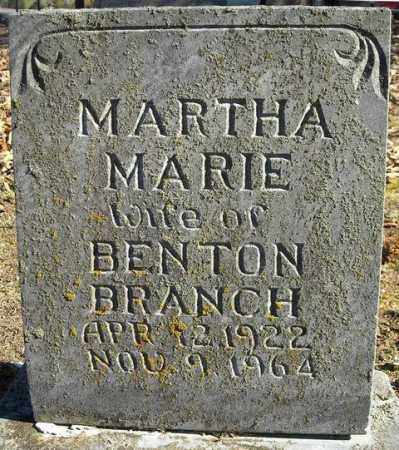 BRANCH, MARTHA MARIE - Faulkner County, Arkansas | MARTHA MARIE BRANCH - Arkansas Gravestone Photos