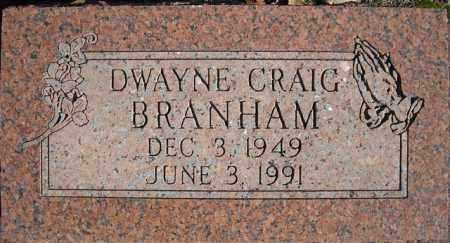 BRANHAM, DWAYNE CRAIG - Faulkner County, Arkansas | DWAYNE CRAIG BRANHAM - Arkansas Gravestone Photos