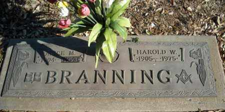 BRANNING, HAROLD W. - Faulkner County, Arkansas | HAROLD W. BRANNING - Arkansas Gravestone Photos