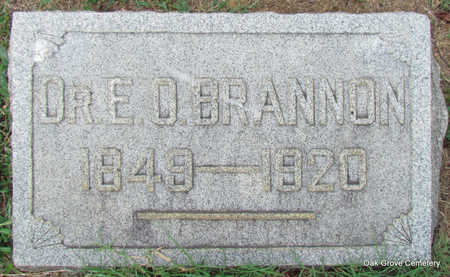 BRANNON, DR., EDMOND.O. - Faulkner County, Arkansas | EDMOND.O. BRANNON, DR. - Arkansas Gravestone Photos
