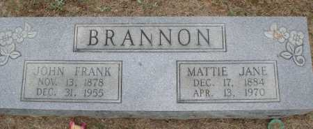 BRANNON, MATTIE JANE - Faulkner County, Arkansas | MATTIE JANE BRANNON - Arkansas Gravestone Photos