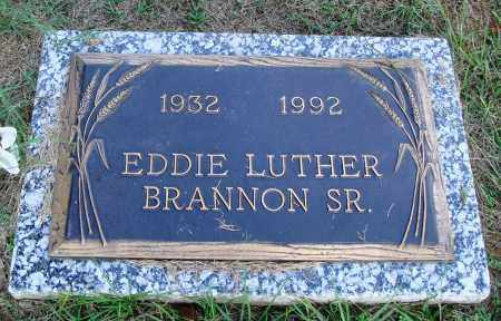 BRANNON SR., EDDIE LUTHER - Faulkner County, Arkansas | EDDIE LUTHER BRANNON SR. - Arkansas Gravestone Photos
