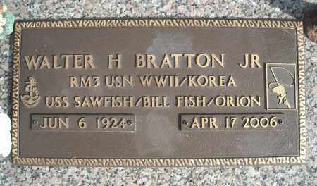 BRATTON, JR (VETERAN 2 WARS), WALTER H - Faulkner County, Arkansas | WALTER H BRATTON, JR (VETERAN 2 WARS) - Arkansas Gravestone Photos