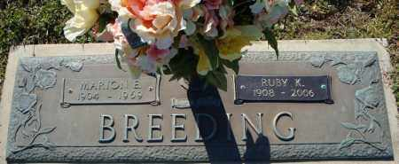 BREEDING, RUBY K. - Faulkner County, Arkansas | RUBY K. BREEDING - Arkansas Gravestone Photos