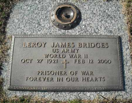 BRIDGES (VETERAN WWII), LEROY JAMES - Faulkner County, Arkansas | LEROY JAMES BRIDGES (VETERAN WWII) - Arkansas Gravestone Photos
