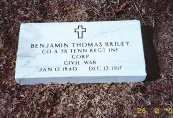 BRILEY  (VETERAN CONFEDERATE), BENJAMIN THOMAS - Faulkner County, Arkansas | BENJAMIN THOMAS BRILEY  (VETERAN CONFEDERATE) - Arkansas Gravestone Photos