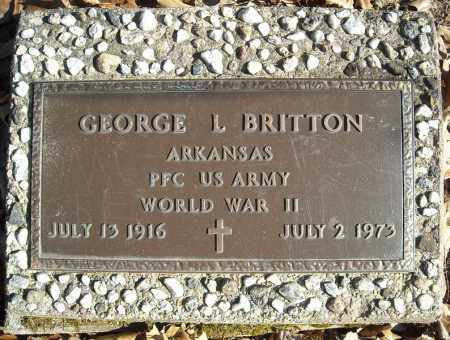 BRITTON (VETERAN WWII), GEORGE L - Faulkner County, Arkansas | GEORGE L BRITTON (VETERAN WWII) - Arkansas Gravestone Photos
