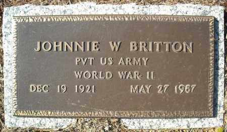 BRITTON (VETERAN WWII), JOHNNIE W - Faulkner County, Arkansas | JOHNNIE W BRITTON (VETERAN WWII) - Arkansas Gravestone Photos