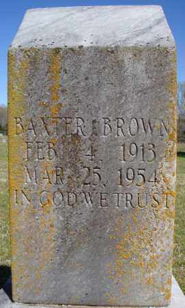 BROWN, BAXTER - Faulkner County, Arkansas | BAXTER BROWN - Arkansas Gravestone Photos