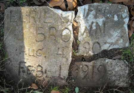 BROWN, EURIL CLIFFORD - Faulkner County, Arkansas | EURIL CLIFFORD BROWN - Arkansas Gravestone Photos