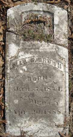 BROWN, ELLA G. - Faulkner County, Arkansas | ELLA G. BROWN - Arkansas Gravestone Photos