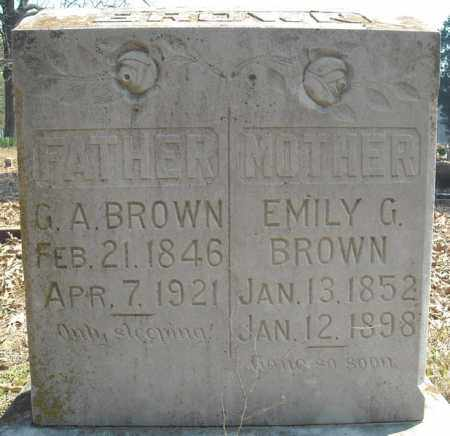 BROWN, EMILY G. - Faulkner County, Arkansas | EMILY G. BROWN - Arkansas Gravestone Photos