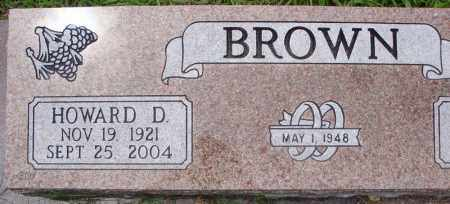BROWN, HOWARD D. - Faulkner County, Arkansas | HOWARD D. BROWN - Arkansas Gravestone Photos