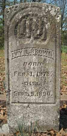 BROWN, IVY L. - Faulkner County, Arkansas | IVY L. BROWN - Arkansas Gravestone Photos
