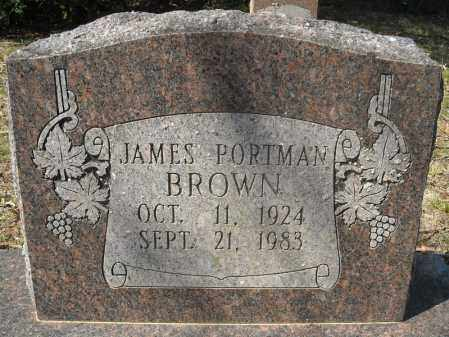 BROWN, JAMES PORTMAN - Faulkner County, Arkansas | JAMES PORTMAN BROWN - Arkansas Gravestone Photos