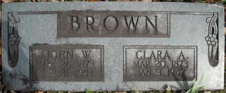 BROWN, JOHN W. - Faulkner County, Arkansas | JOHN W. BROWN - Arkansas Gravestone Photos