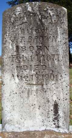 BROWN, MARY A. - Faulkner County, Arkansas   MARY A. BROWN - Arkansas Gravestone Photos