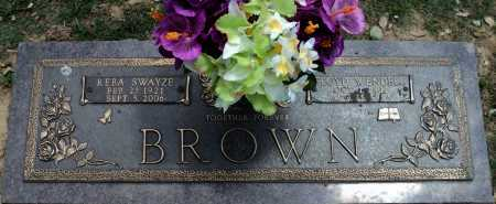 SWAYZE BROWN, REBA - Faulkner County, Arkansas | REBA SWAYZE BROWN - Arkansas Gravestone Photos