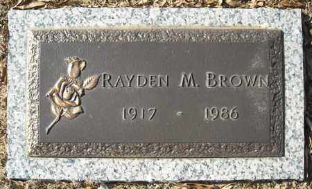 BROWN, RAYDEN M. - Faulkner County, Arkansas | RAYDEN M. BROWN - Arkansas Gravestone Photos