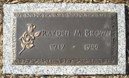 BROWN, RAYDEN M. - Faulkner County, Arkansas | RAYDEN M. BROWN - Arkansas Gravestone Photos