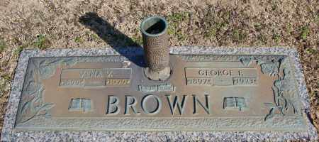 BROWN, GEORGE E. - Faulkner County, Arkansas | GEORGE E. BROWN - Arkansas Gravestone Photos