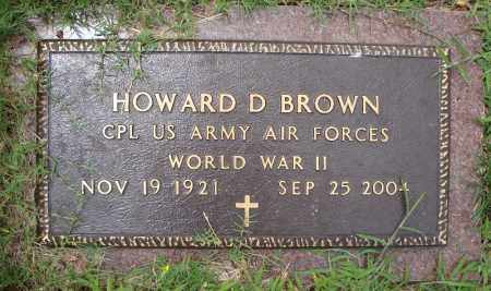 BROWN (VETERAN WWII), HOWARD D - Faulkner County, Arkansas | HOWARD D BROWN (VETERAN WWII) - Arkansas Gravestone Photos