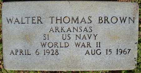 BROWN (VETERAN WWII), WALTER THOMAS - Faulkner County, Arkansas | WALTER THOMAS BROWN (VETERAN WWII) - Arkansas Gravestone Photos