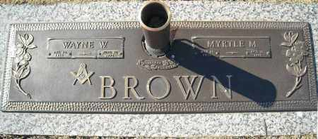 BROWN, WAYNE W. - Faulkner County, Arkansas | WAYNE W. BROWN - Arkansas Gravestone Photos
