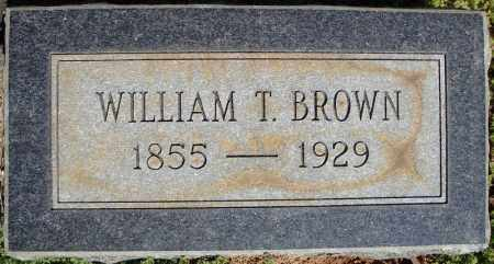 BROWN, WILLIAM T. - Faulkner County, Arkansas | WILLIAM T. BROWN - Arkansas Gravestone Photos
