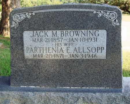 ALLSOPP BROWNING, PARTHENIA E. - Faulkner County, Arkansas | PARTHENIA E. ALLSOPP BROWNING - Arkansas Gravestone Photos