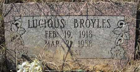 BROYLES, LUCIOUS - Faulkner County, Arkansas | LUCIOUS BROYLES - Arkansas Gravestone Photos