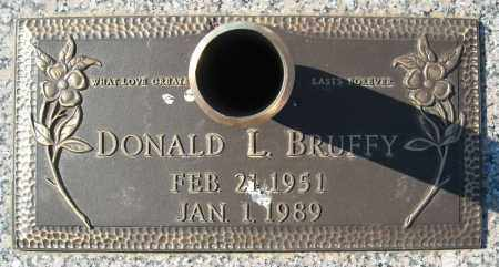 BRUFFY, DONALD L. - Faulkner County, Arkansas | DONALD L. BRUFFY - Arkansas Gravestone Photos