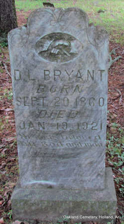 BRYANT, DAVID L. - Faulkner County, Arkansas | DAVID L. BRYANT - Arkansas Gravestone Photos