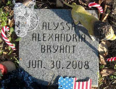 BRYANT, ALYSSA ALEXANDRIA - Faulkner County, Arkansas | ALYSSA ALEXANDRIA BRYANT - Arkansas Gravestone Photos