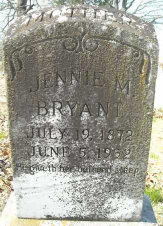 BRYANT, JENNIE M. - Faulkner County, Arkansas | JENNIE M. BRYANT - Arkansas Gravestone Photos