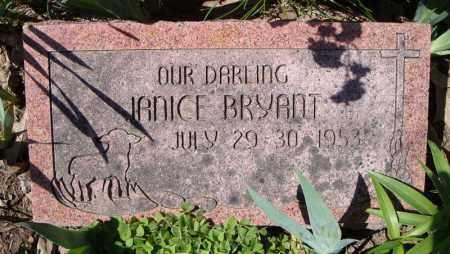 BRYANT, JANICE - Faulkner County, Arkansas | JANICE BRYANT - Arkansas Gravestone Photos