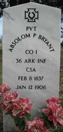BRYANT (VETERAN CSA), ABSOLOM P - Faulkner County, Arkansas | ABSOLOM P BRYANT (VETERAN CSA) - Arkansas Gravestone Photos