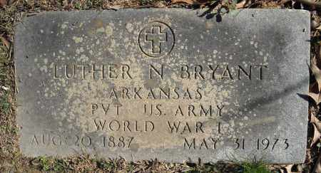 BRYANT (VETERAN WWI), LUTHER N - Faulkner County, Arkansas | LUTHER N BRYANT (VETERAN WWI) - Arkansas Gravestone Photos